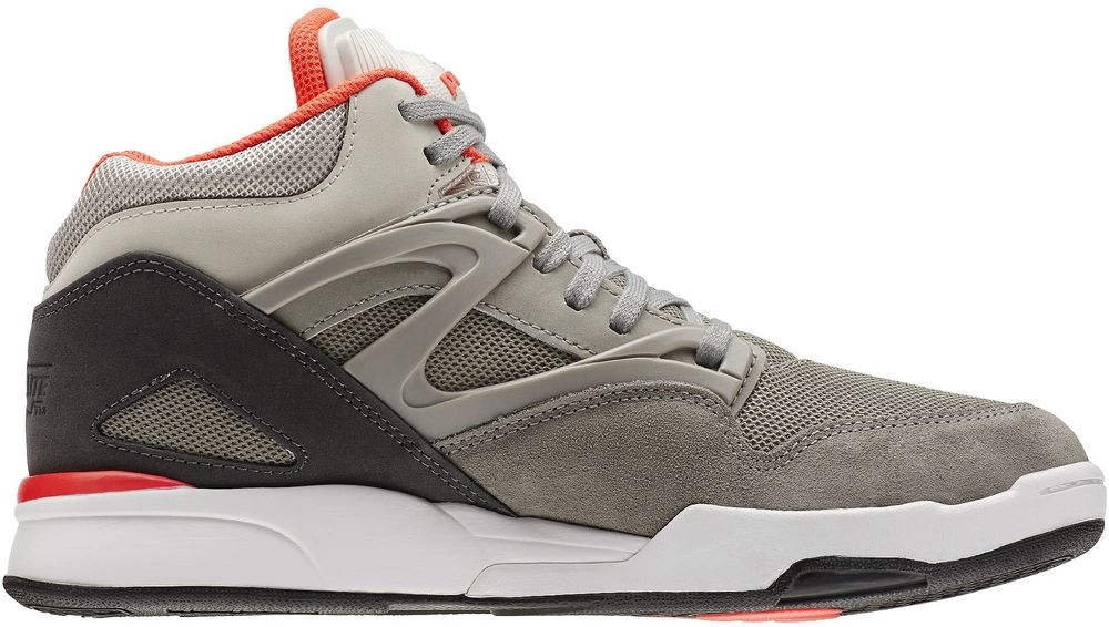 Reebok Pump Omni Lite Dark Heather Grey/Carbon-Medium Grey-Solar Red