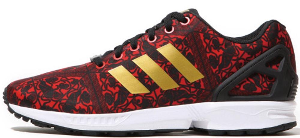 adidas Originals ZX Flux CNY Red/Metallic Gold-Core Black