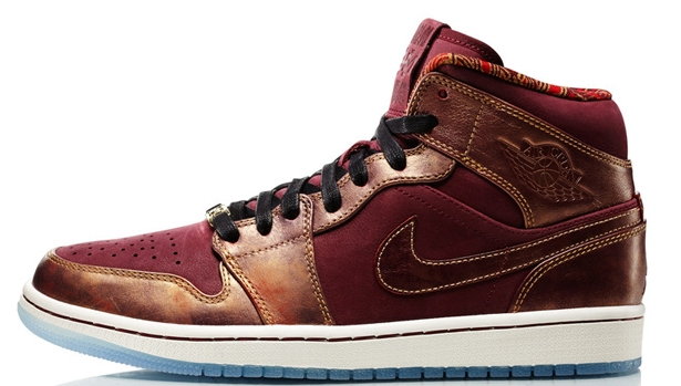 Air Jordan 1 Mid BHM Deep Garnet/Deep Garnet-Metallic Gold-White