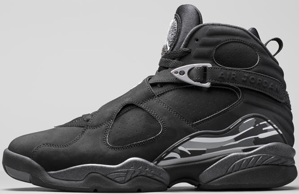 Air Jordan 8 Retro Black/White-Light Graphite