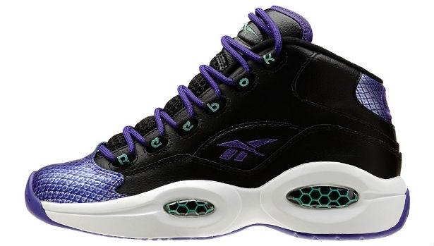 Reebok Question GS Black/Purple-Emerald