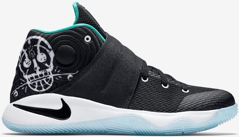 Nike Kyrie 2 GS Black/Black-Hyper Jade-White