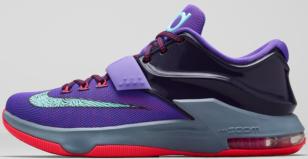 Nike KD VII Cave Purple/Hyper Grape-Magnet Grey-Bleached Turquoise