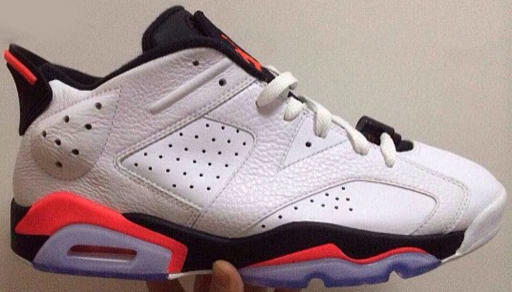 Air Jordan 6 Retro Low White/Infrared 23-Black