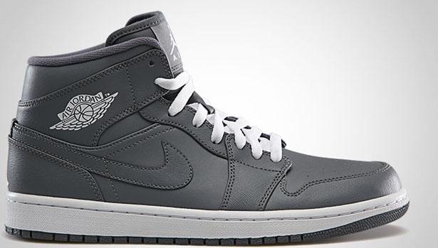Air Jordan 1 Mid Cool Grey/White