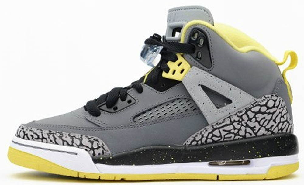 Jordan Spiz'ike GS Cool Grey/Vibrant Yellow-Black