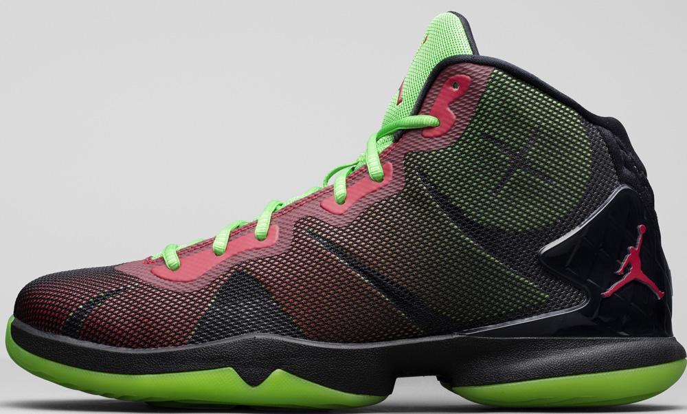 Jordan Super.Fly 4 Black/Bright Crimson-Electric Green