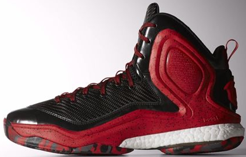 adidas D Rose 5 Boost Black/Scarlet-White