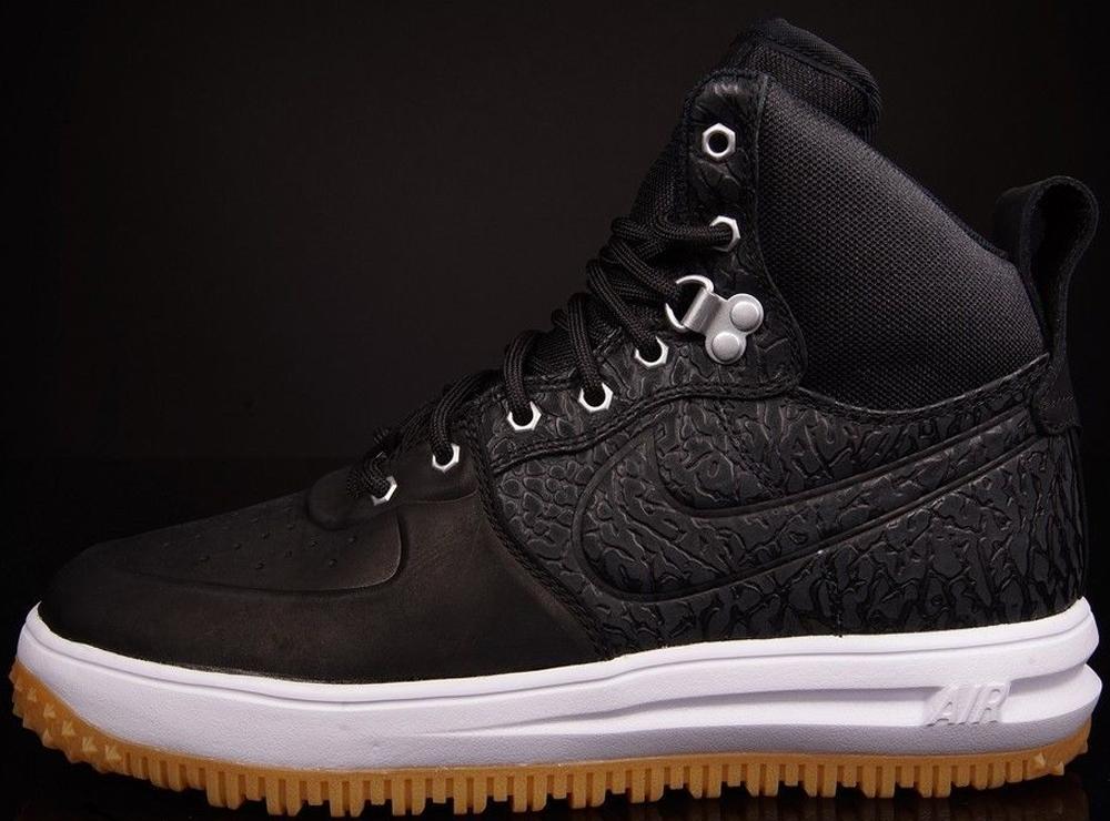 Nike Lunar Force 1 Sneakerboot Black/Black-White