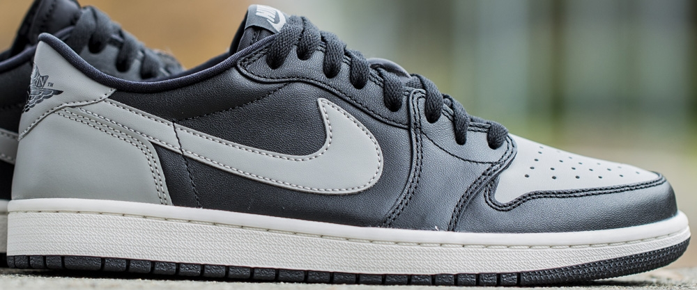Air Jordan 1 Retro Low OG Black/Medium Grey-Sail