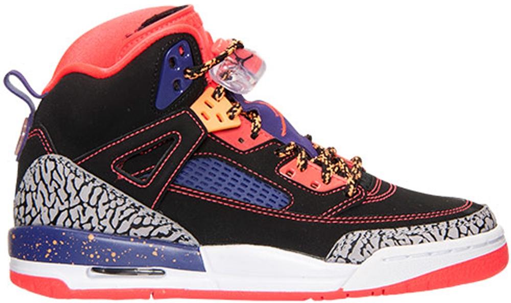Jordan Spiz'ike GS Black/Bright Crimson-Court Purple-Bright Citrus