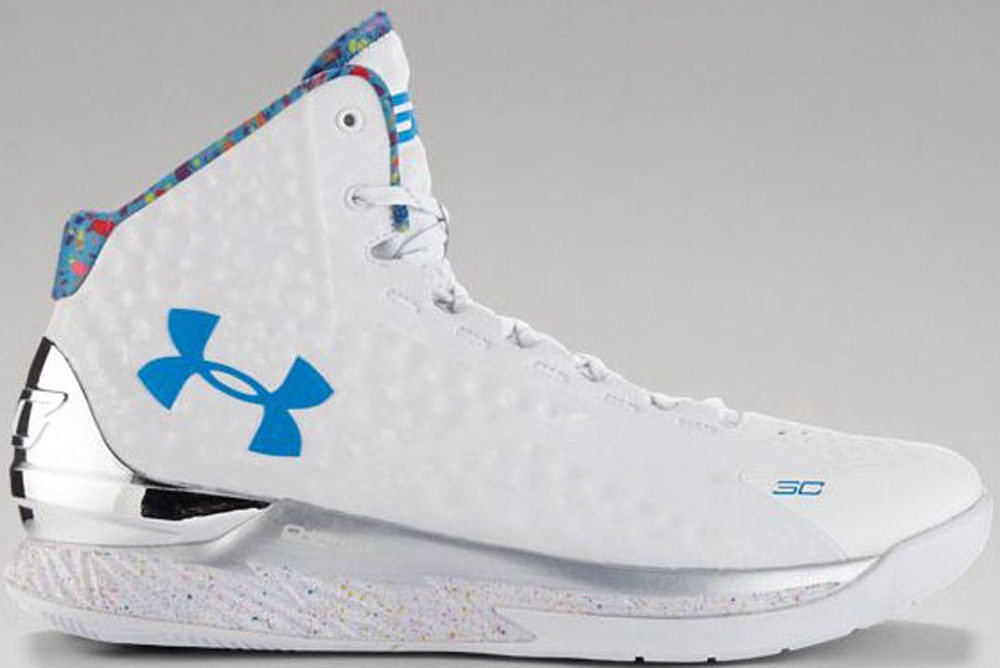 Under Armour Curry One White/Metallic Silver