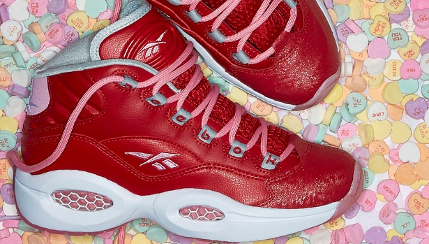 Reebok Question Mid Girls Legacy Scarlet/Light Pink-White