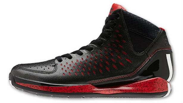 adidas Rose 3 Black/White-Light Scarlet