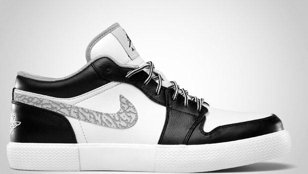 Jordan Retro V.1 Black/Wolf Grey-White