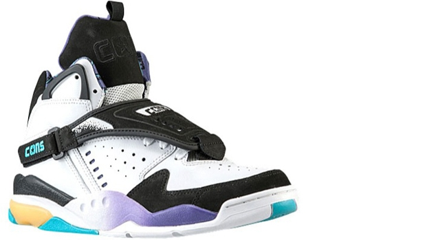 Converse Aero Jam Mid White/Black-Peacock Blue