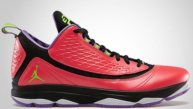 Jordan CP3.VI AE Bright Crimson/Electric Green-Black-Violet Pop