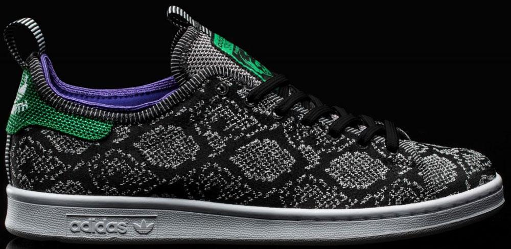 adidas Originals Stan Smith Black/Green-Purple