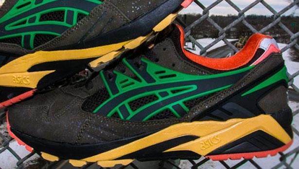 Asics Gel Kayano Trainer Dark Charcoal/Black-Orange-Green