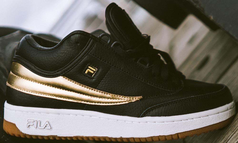 Mr. Flawless x Fila T-1 Mid Black/Gold