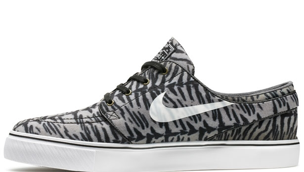Nike Zoom Stefan Janoski SB Canvas Black/White-Medium Olive