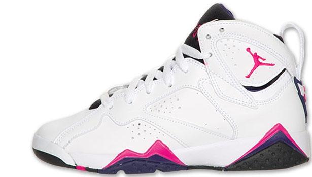 Girls Air Jordan 7 Retro GS Fireberry