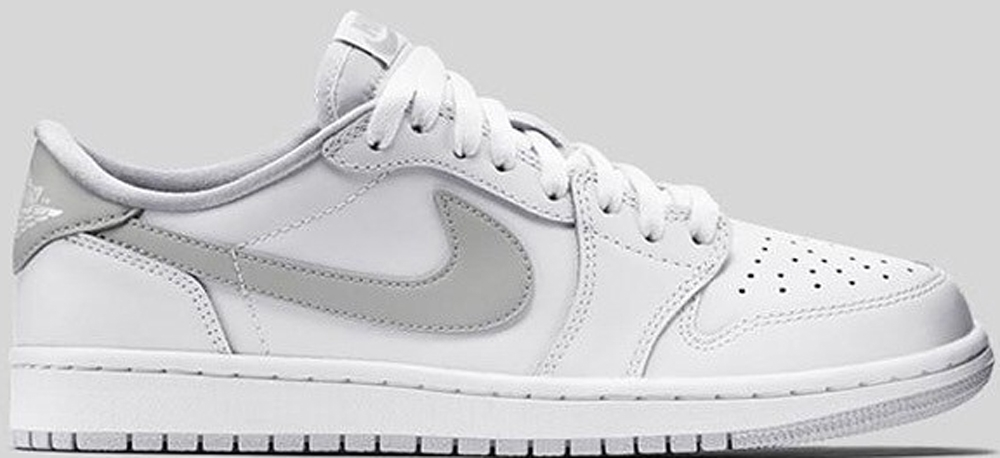 Air Jordan 1 Retro Low OG White/Neutral Grey-White
