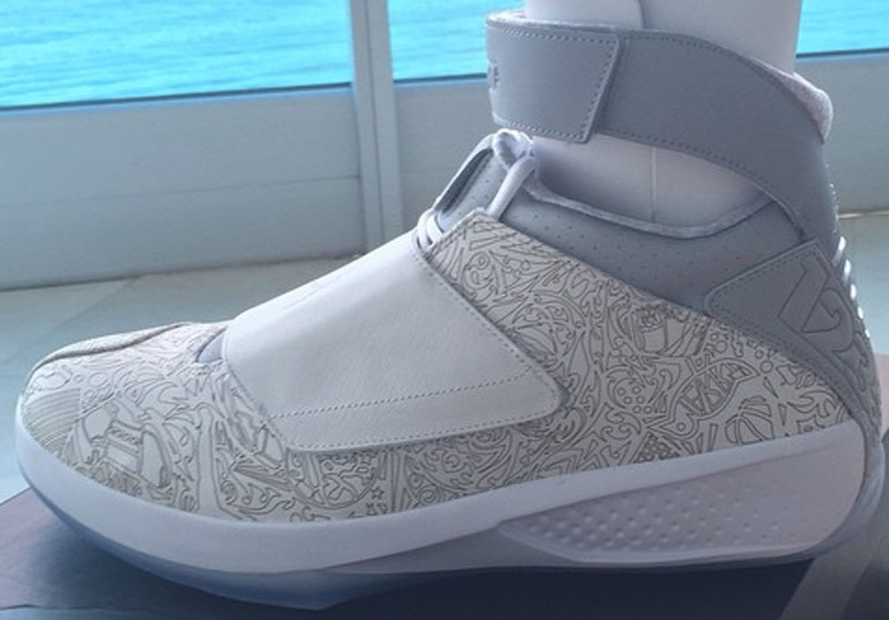 Air Jordan 20 Retro Laser White/Metallic Silver-White