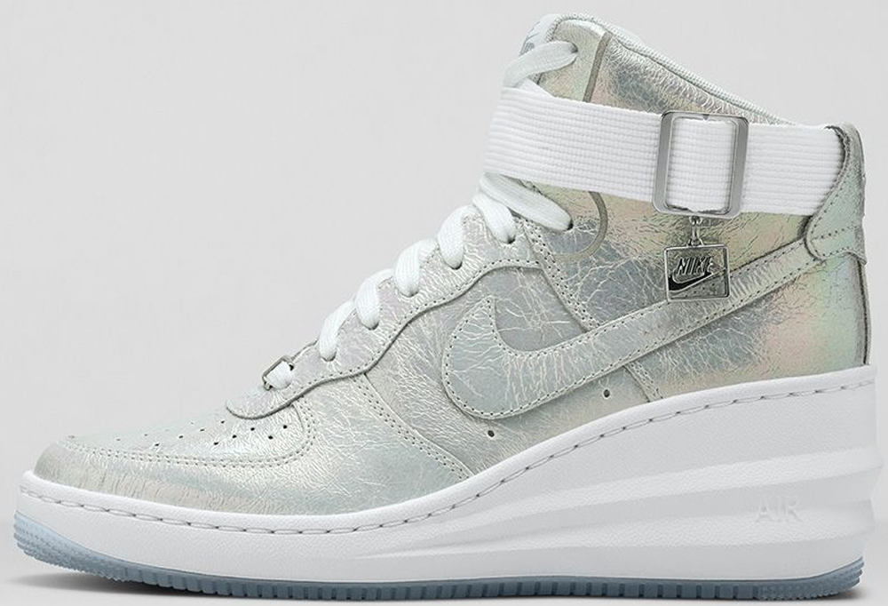 Nike Lunar Force 1 Sky Hi Women's White/Metallic Silver-White