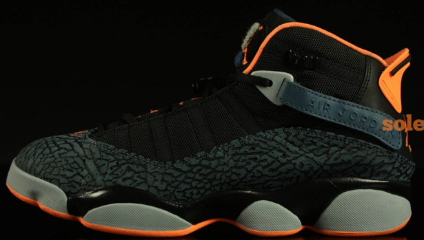 Jordan 6 Rings Black/Atomic Orange-New Slate-Wolf Grey