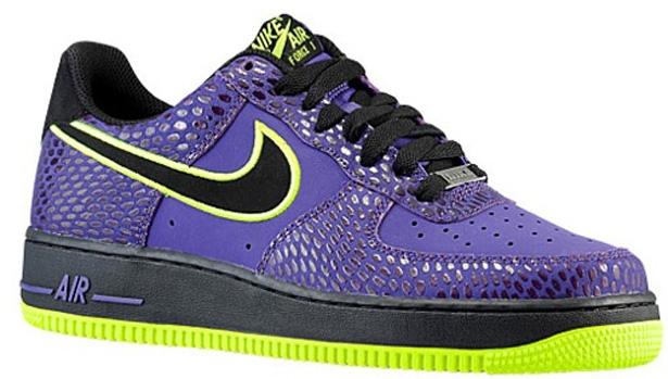 Nike Air Force 1 Low Court Purple/Black-Volt