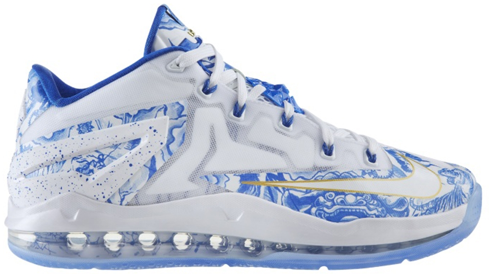 Nike LeBron 11 Low CH White/Hyper Cobalt-University Blue-Metallic Gold