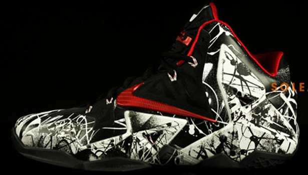 Nike LeBron 11 White/University Red-Black