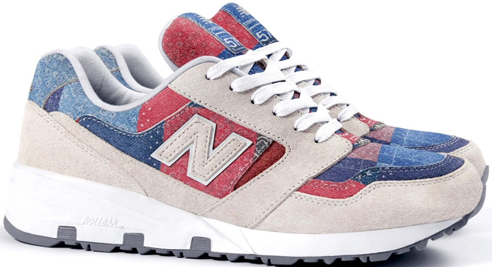 New Balance 575 White/Red-Blue
