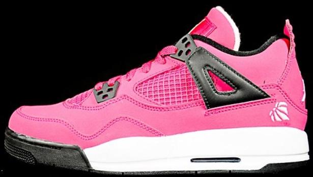 Girls Air Jordan 4 Retro GS Voltage Cherry