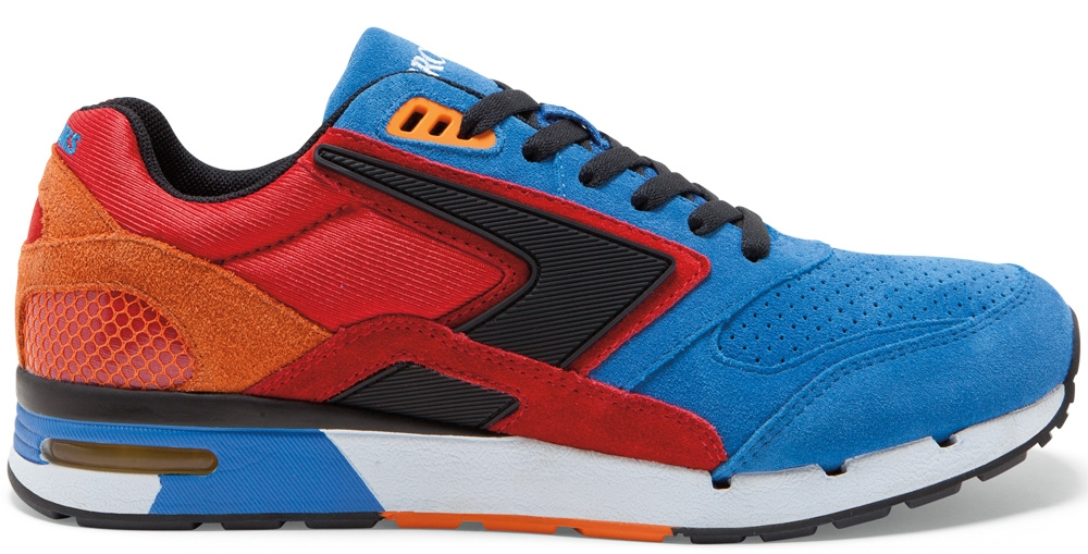 Brooks Fusion Strong Blue/High Risk Red-Orange Popsicle