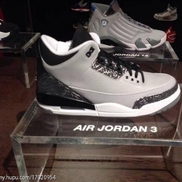Air Jordan 3 Retro Wolf Grey/Metallic Silver-Black-White