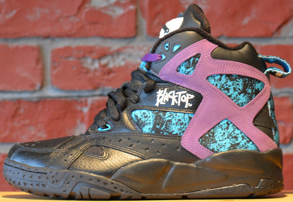 Reebok Blacktop Battleground Pump Black/Purple-Blue