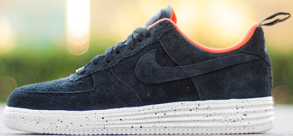 Nike Lunar Force 1 Low SP Black/Team Orange-White
