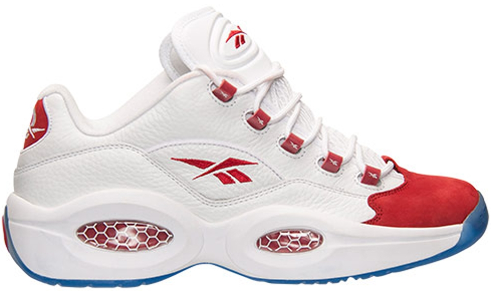 Reebok Question Low White/Flash Red-Ice