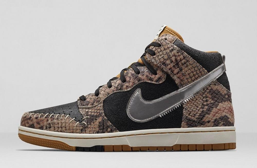 Nike Dunk High CMFT Premium QS Black/Metallic Silver