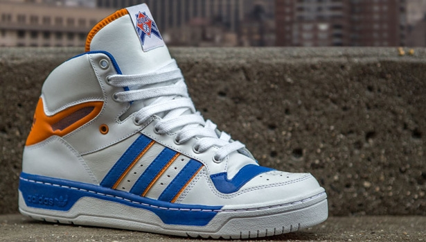 adidas Originals Attitude Hi White/Orange-Blue