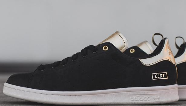 adidas Consortium Stan Smith Black/Metallic Gold