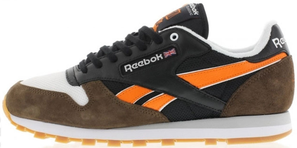 Reebok Classic R12 Black/Grey-Orange-White