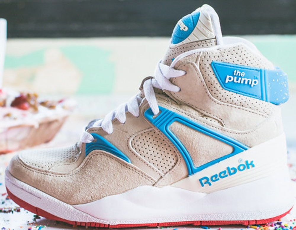 Reebok The Pump Certified Cream/California Blue-Scarlet-White