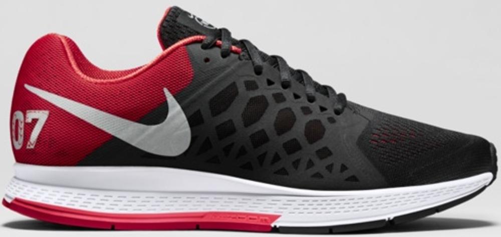 Nike Air Zoom Pegasus 31 N7 Black/University Red-Hyper Punch-Metallic Silver