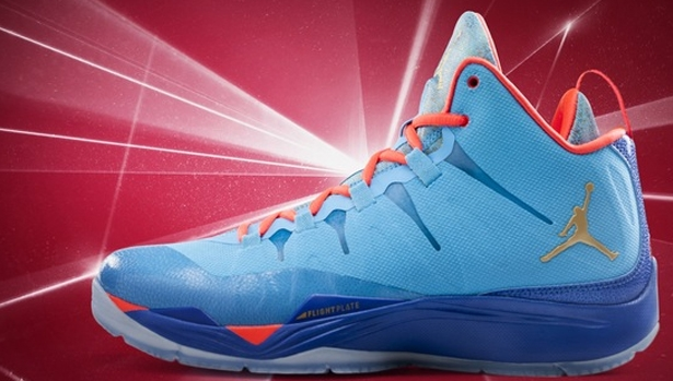 Jordan Super.Fly 2 Dark Powder Blue/Metallic Gold-Infrared 23