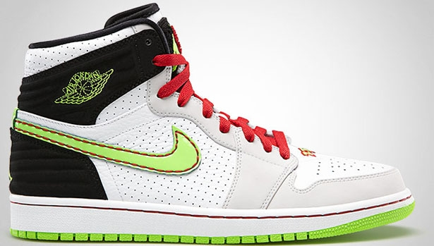 Air Jordan 1 Retro '93 White/Electric Green-Black-Neutral Grey-Gym Red