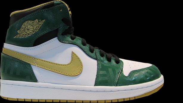 Air Jordan 1 Retro High OG Celtics Clover/Metallic Gold