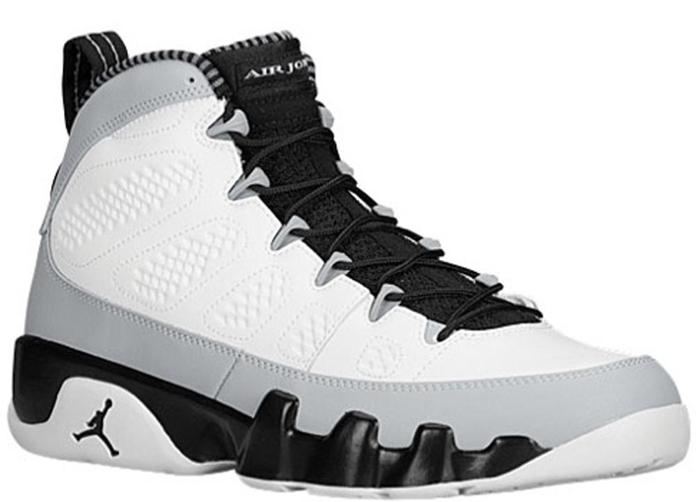 Air Jordan 9 Retro White/Black-Wolf Grey